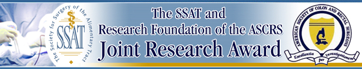 The SSAT/Research Foundation of the ASCRS Joint Research Award